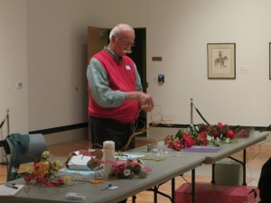 Floral arrangement demonstration