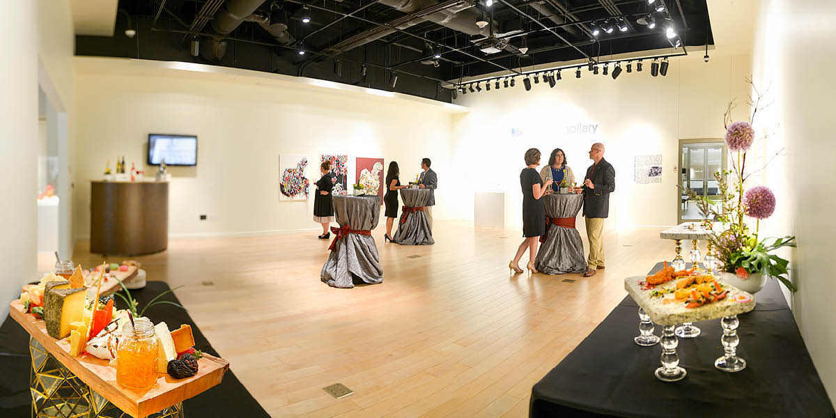 View of Gallery Space During Event