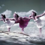 Women Water Skiing