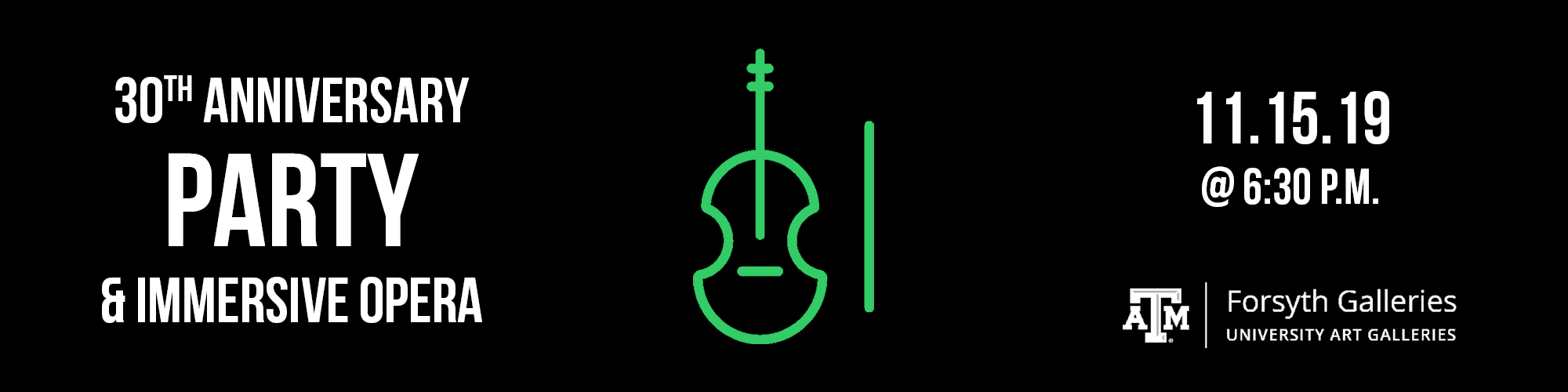 Black background, grenn icon of a stand up violin